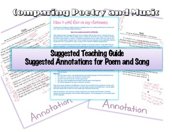 Comparing Music and Poetry (Paired passages)
