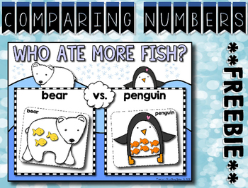 Comparing Numbers 1-12 --- Winter Math Center ***FREEBIE***