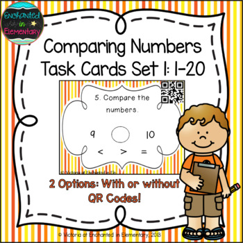 Comparing Numbers 1-20 Task Cards: 1st Grade CC: Number &