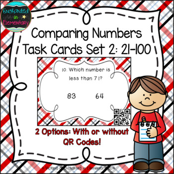 Comparing Numbers 21-100 Task Cards: 1st Gr CC: Number & O
