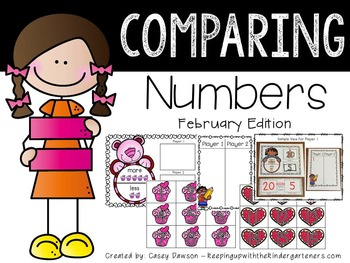 Comparing Numbers February Edition (Common Core and Texas