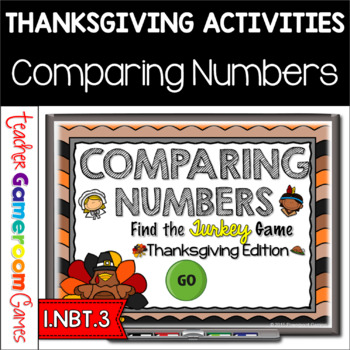 Comparing Numbers - Find the Turkey PPT Game - Thanksgivin