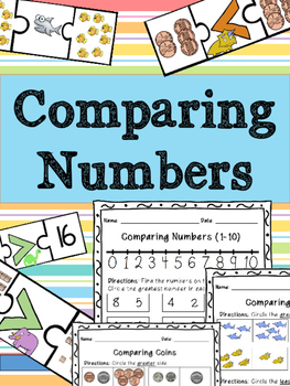 Comparing Numbers - Greater Than, Less Than, Equal - Works