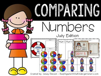 Comparing Numbers July Edition (Common Core and Texas TEKS