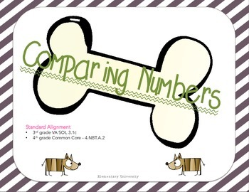Comparing Numbers; Multiple Choice & TEI; 3rd grade VA SOL