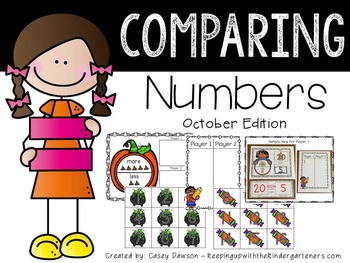 Comparing Numbers October Edition (Common Core and Texas T
