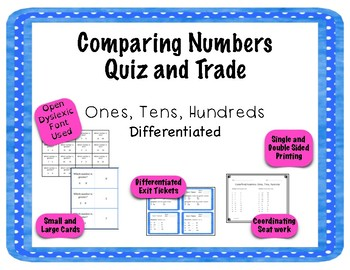 Comparing Numbers Quiz Quiz Trade Ones, Tens, Hundreds