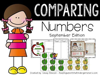 Comparing Numbers September Edition (Common Core and Texas