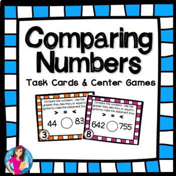 Comparing Numbers Task Cards and Games