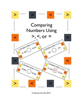 Comparing Numbers Using >