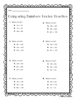 Comparing Numbers (Greater Than / Less Than) / Rounding -
