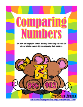 Comparing Numbers to 1200 - Mice and Cheese