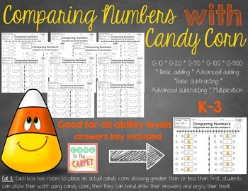 Comparing Numbers with Candy Corn K-3