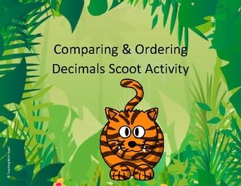 Comparing Decimals and Ordering Decimals Scoot Activity/Ta