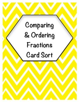 Comparing & Ordering Fractions Card Sort