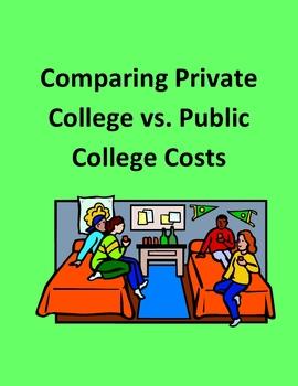 Comparing Private College vs. Public College Costs Using Websites