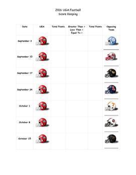 Comparing Scores: UGA Score Keeping