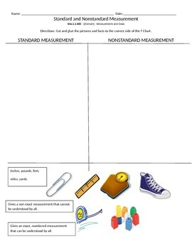 Comparing Standard and Nonstandard Measurement