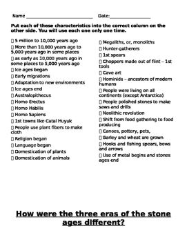 Comparing Stone Ages