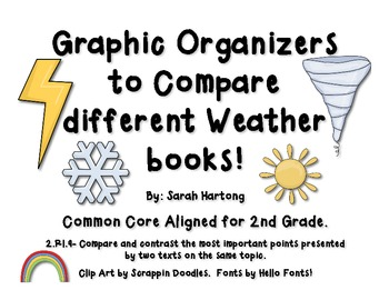 Comparing Weather Books {Graphic Organizers}