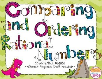 Comparing and Ordering Decimals, Fractions & Integers CCSS