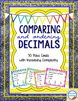 Comparing and Ordering Decimals Poke Cards