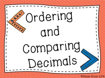 Comparing and Ordering Decimals: Whole Group & Small Group
