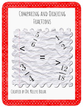 Comparing and Ordering Fractions Quiz