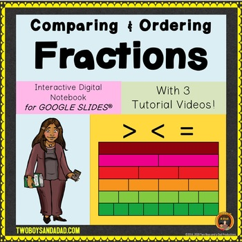 Comparing and Ordering Fractions for Google Drive