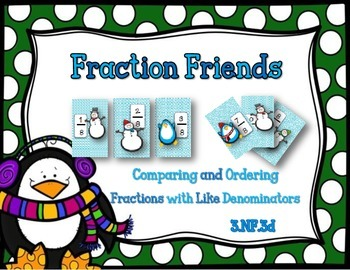 Comparing and Ordering Fractions with Like Denominators {3