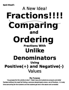 Comparing and Ordering Fractions with Unlike Denominators-