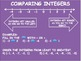 Comparing and Ordering Integers Powerpoint and Guided Stud