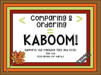 Comparing and Ordering KABOOM!: TEKS 3.2D & CCSS 4.NBT.A.2