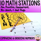 Comparing and Ordering Numbers Test Prep Math Stations