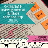 Comparing and Ordering Rational Numbers Solve and Snip