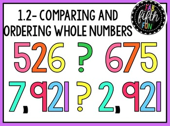 Comparing and Ordering Whole Numbers (5th Grade enVision P