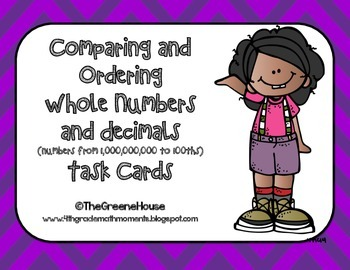 Comparing and Ordering Whole Numbers and Decimals