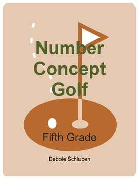 Comparing and Rounding Decimals Golf Games for Fifth Grade