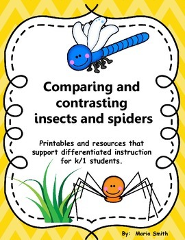Comparing and contrasting insects and spiders for K/1