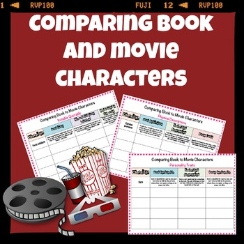 Comparing book and movie characters (for any movie)