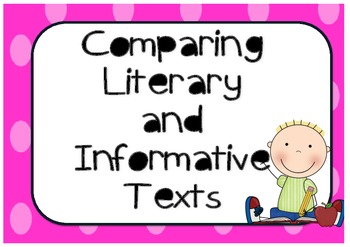Comparing features of literary and information texts.