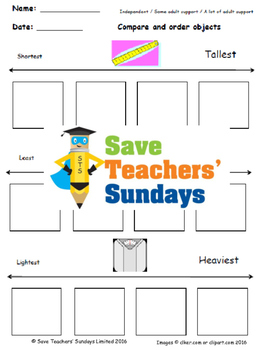 Comparing measurements lesson plans, worksheets and more