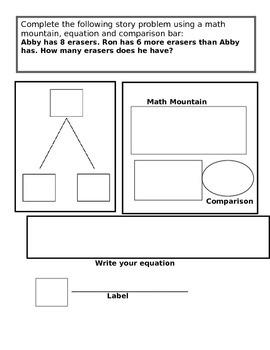 Comparison Bars, Math Mountains & Equations