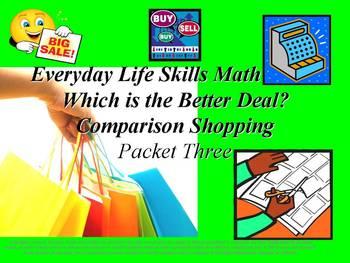 Comparison Shopping: Everyday Life Skills Math Series: Pac
