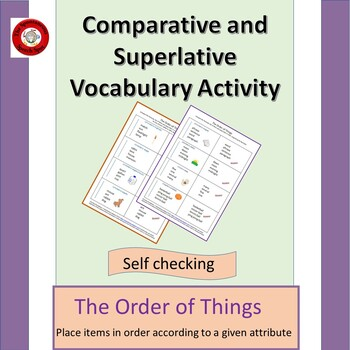Comparison and Superlative Vocabulary Activity; The Order