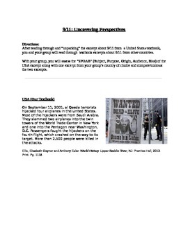 Comparison of Global Perspectives About 9/11 in Textbooks