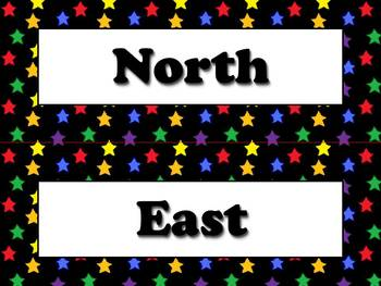 Compass Rose Cardinal and Intermediate Directions Strips S
