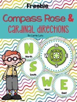 Compass Rose and Cardinal Directions {Classroom Decor}