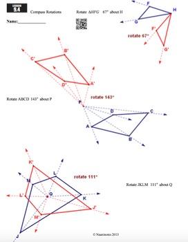 Compass Rotations Worksheet