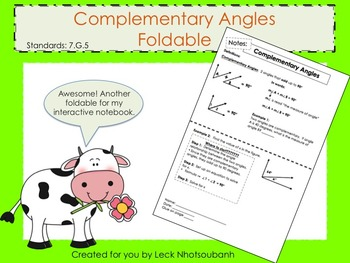 Complementary Angles Foldable